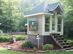 This would be adorable as a tiny little guest house ... or backyard yoga studio for one  :)