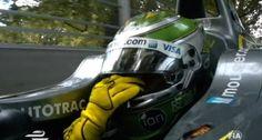 O choro de Nelsinho Piquet na volta de desaceleração ao fim da corrida da…