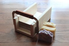 Wavy Curvy Crinkle Cutter Hand Made Wooden Soap Slicer - Loaf / Miter Box with Slicer Included