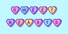 Sweet Hearts - Blue Vinyl Fonts
