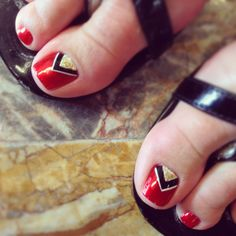 Triangle half moon toenails