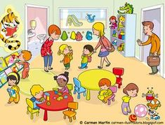 Pre K ~ by Carmen Martin Social Skills Activities, Therapy Activities, Preschool Activities, Picture Story Writing, Picture Writing Prompts, Speech Language Pathology, Speech And Language, Oral Communication Skills, Picture Comprehension