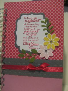 Philipians 1:6 Prayer Journal by abcande on Etsy, $18.00