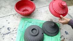 How to make cement pots easily at home.