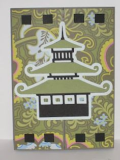 New Home gate fold card using Cricut Pagoda and K paper