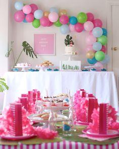 The prettiest Moana party you ever saw – Confetti Fair Moana Birthday Decorations, 2nd Birthday Party Themes, 30th Birthday, Large Balloons, Moana Party, Jungle Party, Party Favor Bags, Confetti, Birthdays