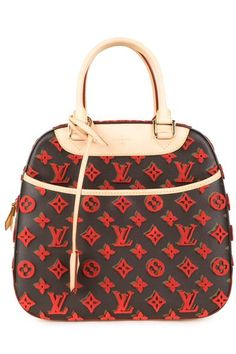 ca9fea002efd Louis Vuitton Brown   Red Tuffetage Deauville Cube Bag