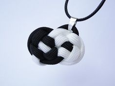 How to Tie a Yin Yang Necklase Pendant - Knot by CreationsByS - Paracord Version - YouTube https://www.youtube.com/watch?v=DKd88y0w0ao