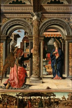 FRANCESCO DEL COSSA Around 1470, the Observant Franciscans of Bologna commissioned Francesco del Cossa to paint an altarpiece for their conventual church, depicting the Annunciation to the Virgin.