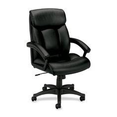 HON HVL151 Executive High-Back Chair for Office or Computer Desk - http://www.furniturendecor.com/hon-hvl151-executive-high-back-chair-for-office-or-computer-desk-black/