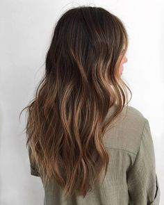 Low maintenance brunette hair color on fine, dark, Asian brunette hair…