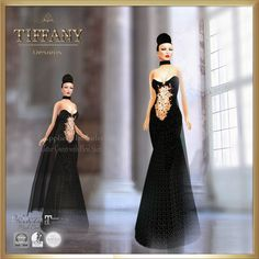 https://flic.kr/p/vcSgtb | TD Afi Glitter Gown with Appliers | marketplace.secondlife.com/stores/139726  maps.secondlife.com/secondlife/Leenas%20Retreat/133/195/21
