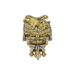 """York"" Dog Jewelry, Animal Jewelry, Jewelry Rings, Jewellery, Ancient Romans, Luxury Jewelry, Black Diamond, Lion Sculpture, Sapphire"