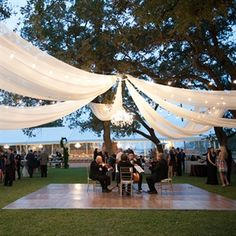 Ideas & Advice Photo: Jennifer Lindberg Weddings // Wedding Consultant: Maggie Gillespie Designs // Featured: The Outdoor Wedding Reception, Outside Wedding, Wedding Table, Wedding Ceremony, Reception Ideas, Outdoor Weddings, Country Weddings, Tulle Wedding, Wedding Venues
