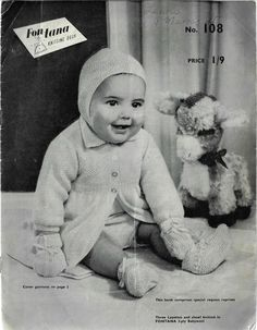 Vintage Knitting, Baby Knitting Patterns, Pattern Books, This Book, Teddy Bear, Booty, Dress, Layette, Swag