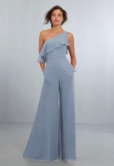 710a3190e772 Mori Lee 21574 One-Shoulder Bridesmaid Jumpsuit