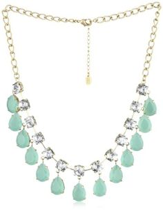 "Danielle Stevens ""Resort"" Blue Drop Necklace"