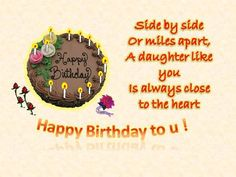 Express your love and adoration for your darling daughter on her birthday. Free online Greetings On Your Daughters Birthday ecards on Birthday