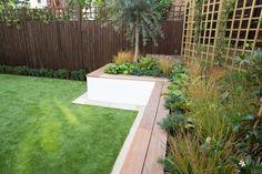 Brook Green - Garden Builders and Landscapers Urban Garden Design, Back Garden Design, Back Gardens, Small Gardens, Outdoor Gardens, Modern Gardens, Rock Yard, North Facing Garden, Cheap Plants