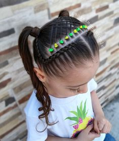 updo hairstyles with braids Popular Haircuts Cute Little Girl Hairstyles, Cute Girls Hairstyles, Baddie Hairstyles, Braided Hairstyles, Cute Box Braids, Kids Box Braids, Braids For Long Hair, Girl Hair Dos, Toddler Hair