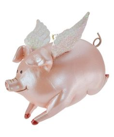 Loving this Flying Pig Ornament on #zulily! #zulilyfinds