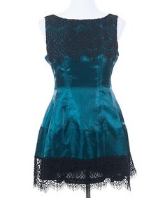 Another great find on #zulily! Ju's Green Moonlight Lace Sleeveless Dress by Ju's #zulilyfinds