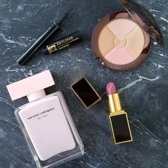 Pretty in Pink: Narciso Rodriguez For Her Perfume, Tom Ford Pussycat Lipstick, Lancome Artliner, Guerlain Terracotta Fragrance