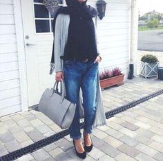 How to wear boyfriend jeans with hijab- Elegant and modern hijab fashion looks – Just Trendy Girls