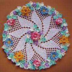 PDF Crochet Pattern più floreale centrini-cinque di BellaCrochet