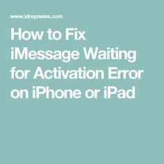 how to fix imessage on iphone 4
