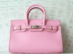 Hermes pink mini Birkin bag. so cute and so pink!