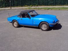 1978 Triumph, Spitfire  Blue with black interior & hood. Mechanically the car drives nicely, the interior is in generally good order and the hood is waterproof. It is a good solid car with excellent panel gaps however it is due a respray. The car is original and correct. The mileage reading is 83,700 miles, the MoT lasts until April 2015, it is not taxed. The previous owner owned the car for 13 years  http://www.collectioncar.com/detailed.php?ad=56378&category_id=1