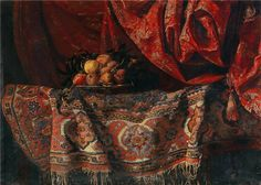 Francesco Noletti (Malta 1611 - Rome Carpet Still Life. Oil on canvas, x in. x cm, POA © French & Company, Llc Pompidou Paris, Georges Pompidou, Maltese, Rome, Still Life Fruit, Religious Paintings, The Hague, Caravaggio, Art Moderne