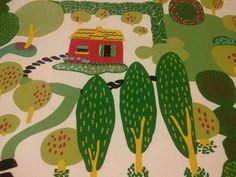 Hey, ho trovato questa fantastica inserzione di Etsy su https://www.etsy.com/it/listing/211407908/tovaglia-bianchi-verdi-alberi-rosa-case