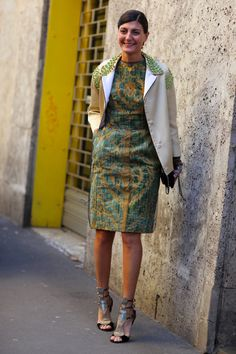 Giovanna Battaglia in Prada Coat | Street Fashion | Street Peeper | Global Street Fashion and Street Style