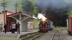 """The Mainline Steam Tour passing through Ormondville November 2011 - sorry I tried the """"remove shake option"""" on this video to try it out - I suggest you don't. New Zealand, Tours, Train, Strollers"""