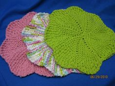 Handmade Knitted Dishcloths  Set of 3  by sewfuncreations1988, $15.00