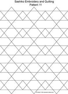 Sashiko Pattern 12: Sashiko Pattern 11