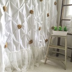 Burlap Ruffle Shower