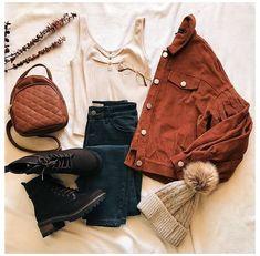 Cute Fall Outfits, Fall Fashion Outfits, Stylish Outfits, Winter Outfits, Winter Fashion, Retro Outfits, Mode Outfits, Girl Outfits, Mode Kpop