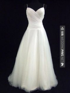 Wedding Colour Schemes 2017 – Simple Wedding Dress. Could add a ribbon (that goes with the colour scheme?) at the waist.