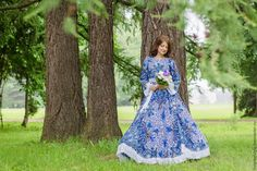 Купить Свадебное платье в Русском стиле - Платье для Невесты - свадебное платье, платье невесты