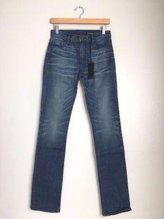 BLACK ORCHID Denim Jude Mid Rise Slim Skinny Straight Jeans Blue 27 $190 #152 #BlackOrchid #SlimSkinnyStraightLeg