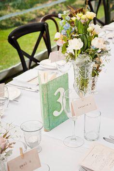 New wedding decorations table numbers book centerpieces Ideas Diy Wedding, Wedding Reception, Wedding Flowers, Dream Wedding, Wedding Ideas, Wedding Book, Wedding Souvenir, Nautical Wedding, Wedding Colors