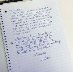 If you're in need of neat handwriting styles, perfect handwriting or the odd hand typed looking-style that looks fake(!) check out this post Handwriting Examples, Handwriting Alphabet, Handwriting Styles, Handwriting Analysis, Calligraphy Handwriting, Handwriting Practice, Capital Cursive, Notes Handwriting, Handwriting Fonts