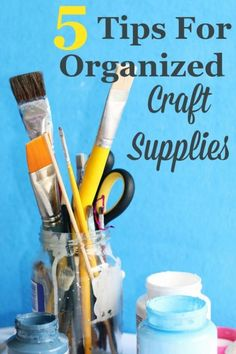 Crafting is supposed to be fun, but when your tools and supplies are a mess and a jumble it sucks a lot of the fun out of the process. Here's 5 tips for organized craft supplies so you can find what you want and need and make your next craft project be more fun and less frustrating. #ad