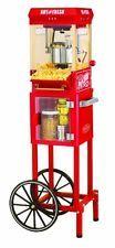 Popcorn Machine Cart Kettle Popper Nostalgia Vintage Red Movie Maker Funtime Hot in Home & Garden, Kitchen, Dining & Bar, Small Kitchen Appliances, Popcorn Poppers | eBay