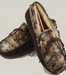 8302fe08afa17 Realtree Camo Leather Slippers for Adults Shearling Slippers, Leather  Slippers, Camo Outfits, Girly