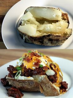 Baked Potato Bar.  We had one at the contract dining room in college -- best monster spuds I ever had.