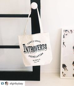 Introverts unite!!! @sfgirlbybay tote'n the PapaLlama Functional Introverts Association bag gifted by @imlauramiller . Rock on ladies! You gals make us fellow introverts hella proud.  #Repost @sfgirlbybay ・・・ when your friends know you oh so well. thanks for the perfect gift @imlauramiller and congratulations on launching your badass new book today!!  #notmeetingupsince1982